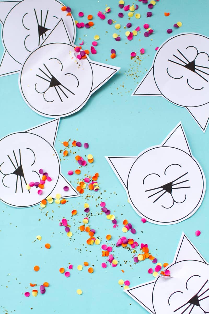 DIY Kitty Confetti Pouches DIY Main