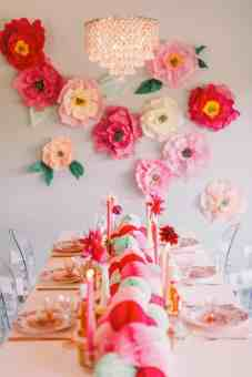 DIY Colourful Paper Flower Wall