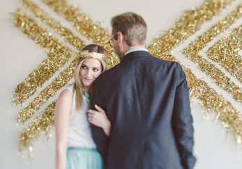 Gold Confetti Backdrop DIY
