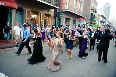 New Orleans Wedding, second line wedding parade, brooch bouquet, diy wedding invitations, masquerade_-57