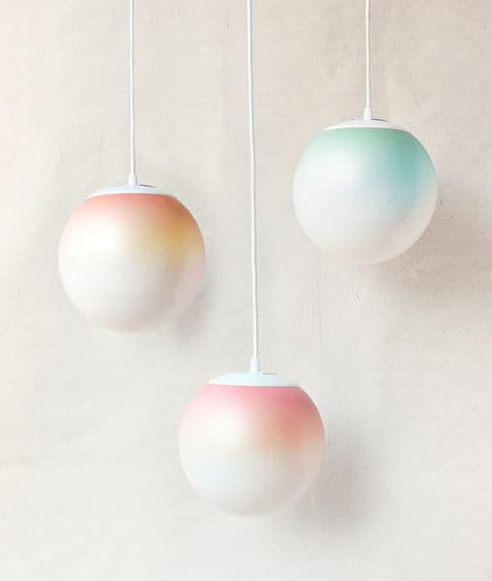 Ombre Pendant Lamps DIY Design Love Fest