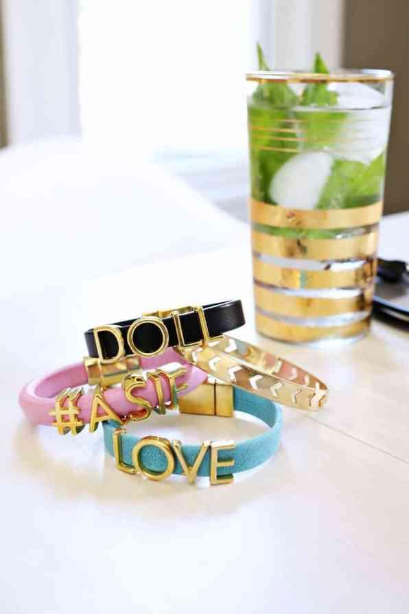 Personalised Phrase Bracelet