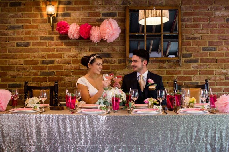 Pink, Glitter & Gold Styled shoot 44