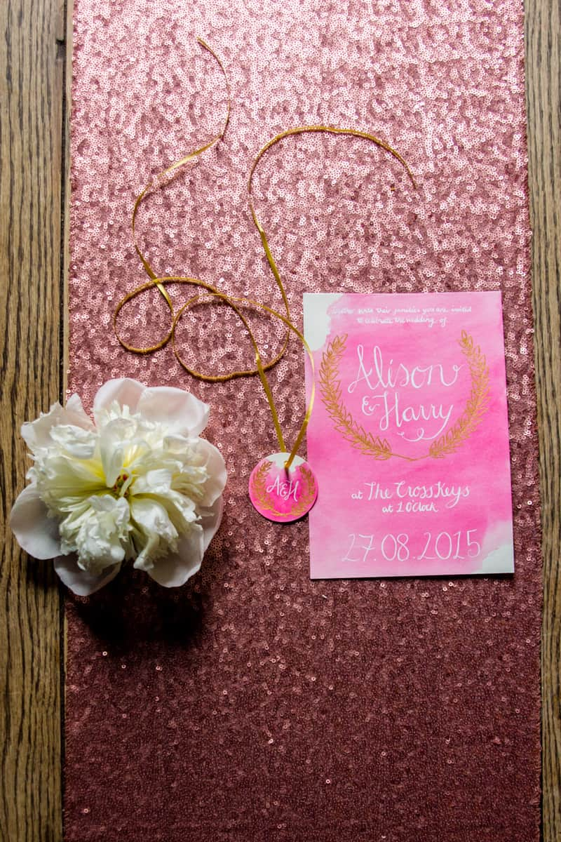 Pink, Glitter & Gold Styled shoot 49