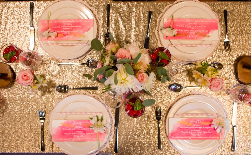Pink, Glitter & Gold Styled shoot 59