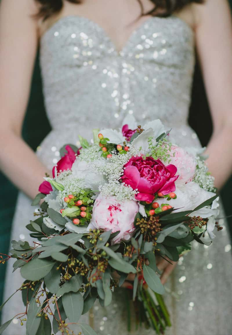 Rustic Bouquet in shades of pink and white