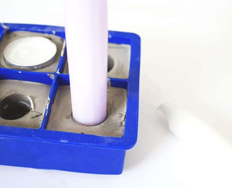 DIY Geometric Concrete Candle Holders (8)