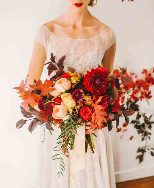 Fall Wedding Bouquet via Green Wedding Shoes