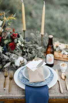 Winter Christmas Place Setting Wedding