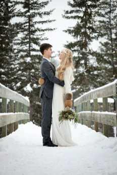 Winter Wedding Inspiration Christmas Bride Groom