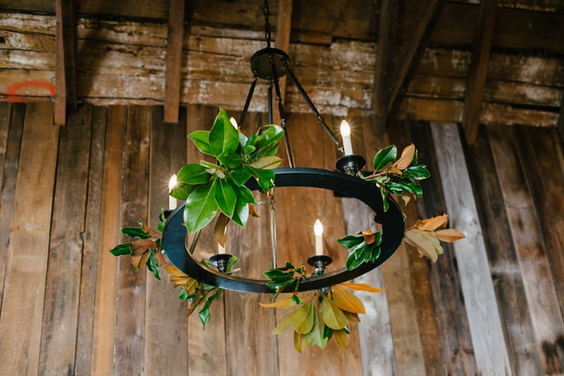 Wreath Chandelier - Meghan & Chuck