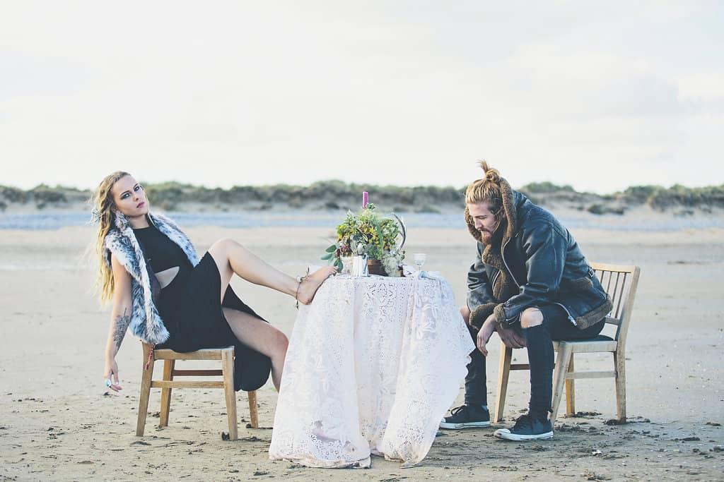 Bohemian Sequin Wedding Inspiration beach festival style 27
