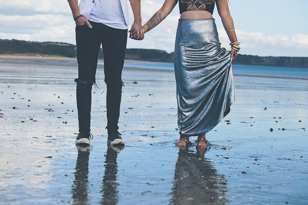 Bohemian Sequin Wedding Inspiration beach festival style 6
