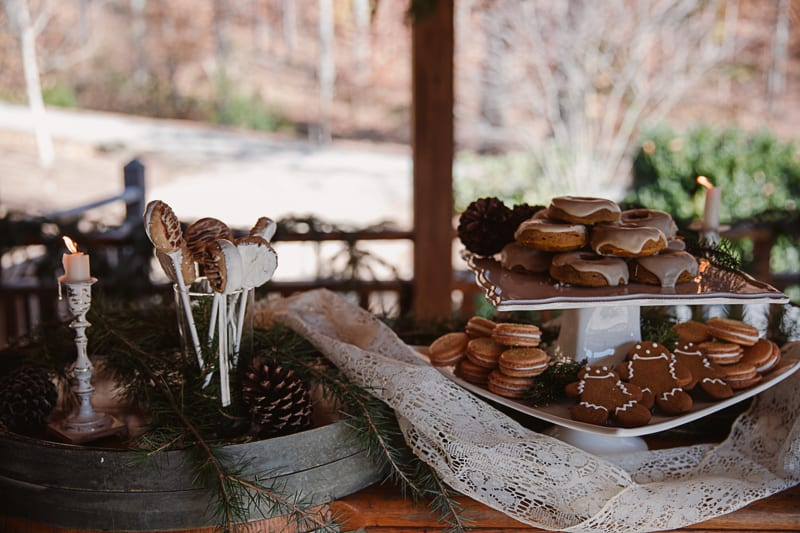 Christmas Bridal Brunch Log Cabin Hot Chocolate Festive Shoot 2