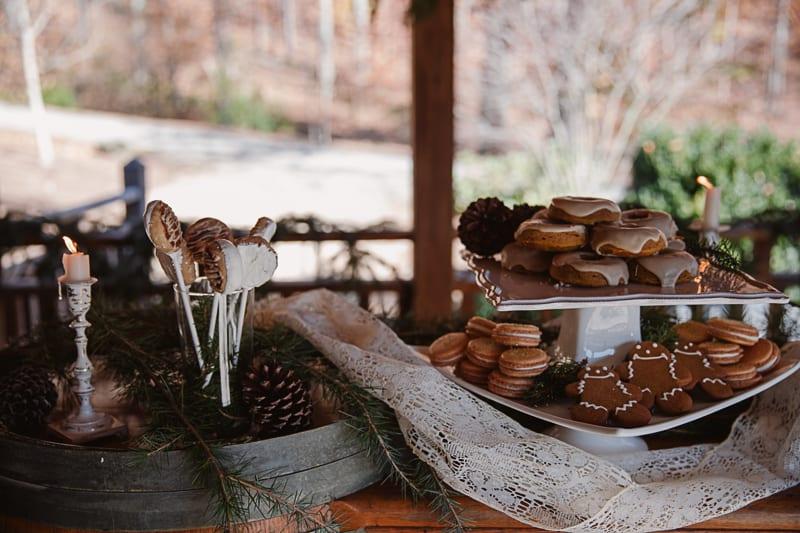 Christmas Bridal Brunch Log Cabin Hot Chocolate Festive Shoot 2