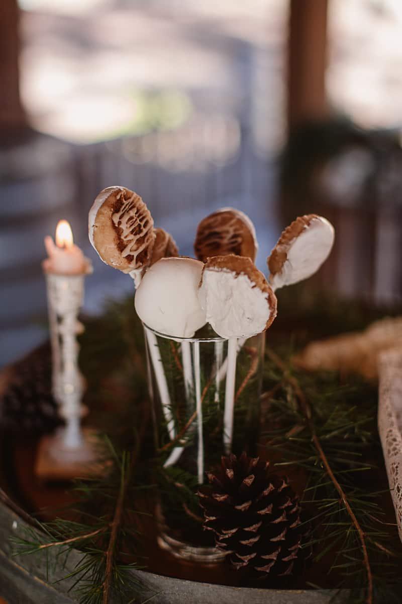 Christmas Bridal Brunch Log Cabin Hot Chocolate Festive Shoot-5