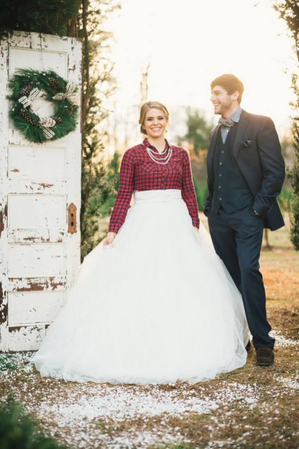 Festive Wedding Inspiration on a Christmas Tree Farm 5
