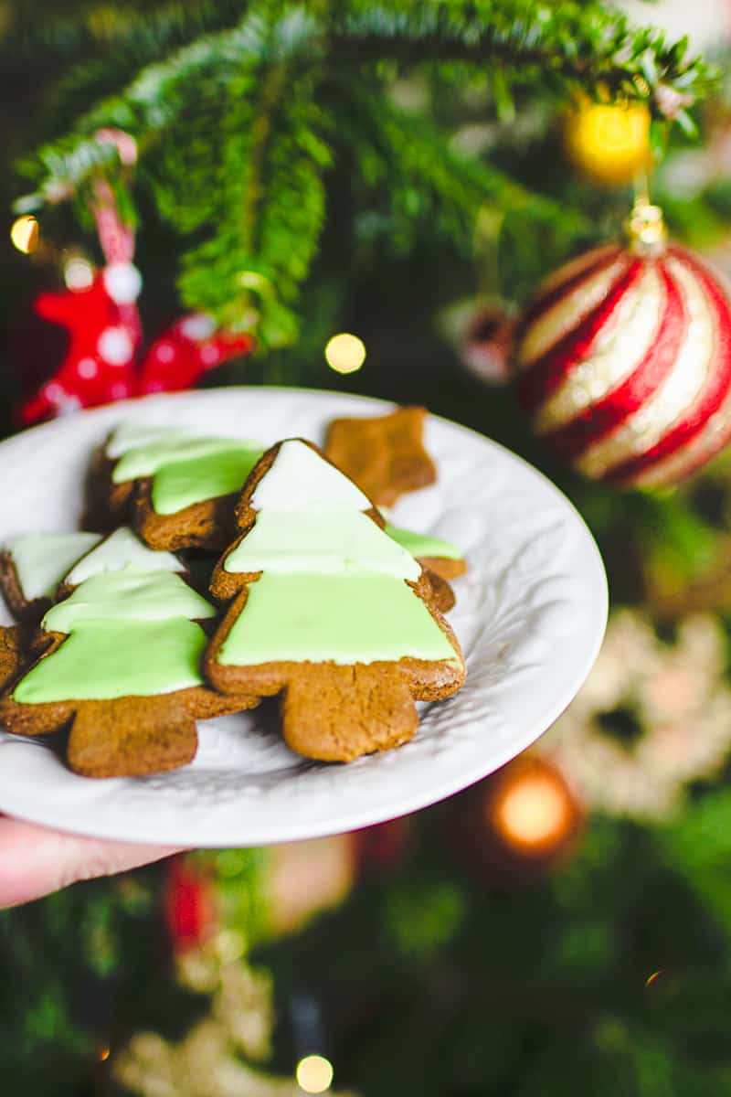 Ombre Iced Christmas Tree Cookies Festive Recipe Baking-4