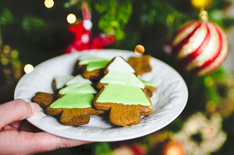 Ombre Iced Christmas Tree Cookies Festive Recipe Baking-5