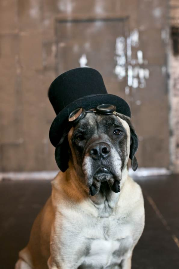 Steampunk Wedding Inspiration metals bride shoot 18