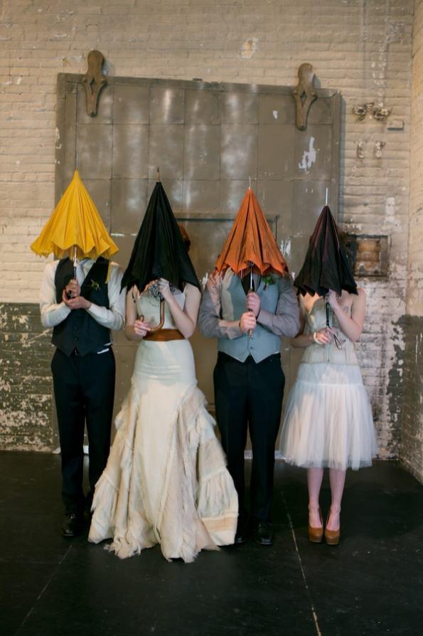 Steampunk Wedding Inspiration metals bride shoot 24