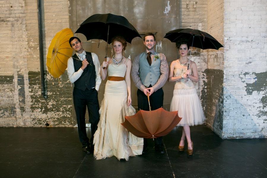 Steampunk Wedding Inspiration metals bride shoot 25