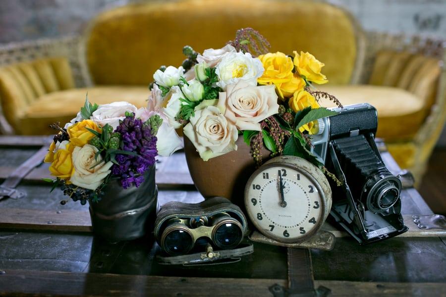 Steampunk Wedding Inspiration metals bride shoot 6