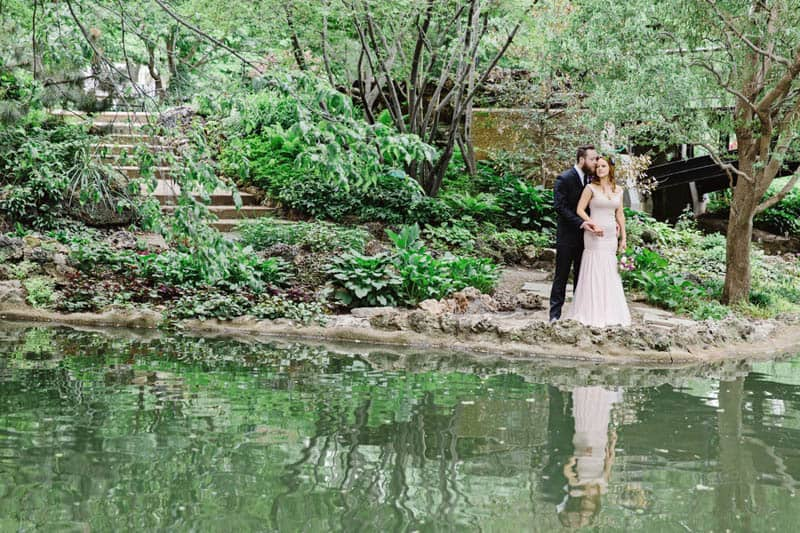 Close Knit Family & Friend DIY Wedding, Bride with Purple Petticoat (25)