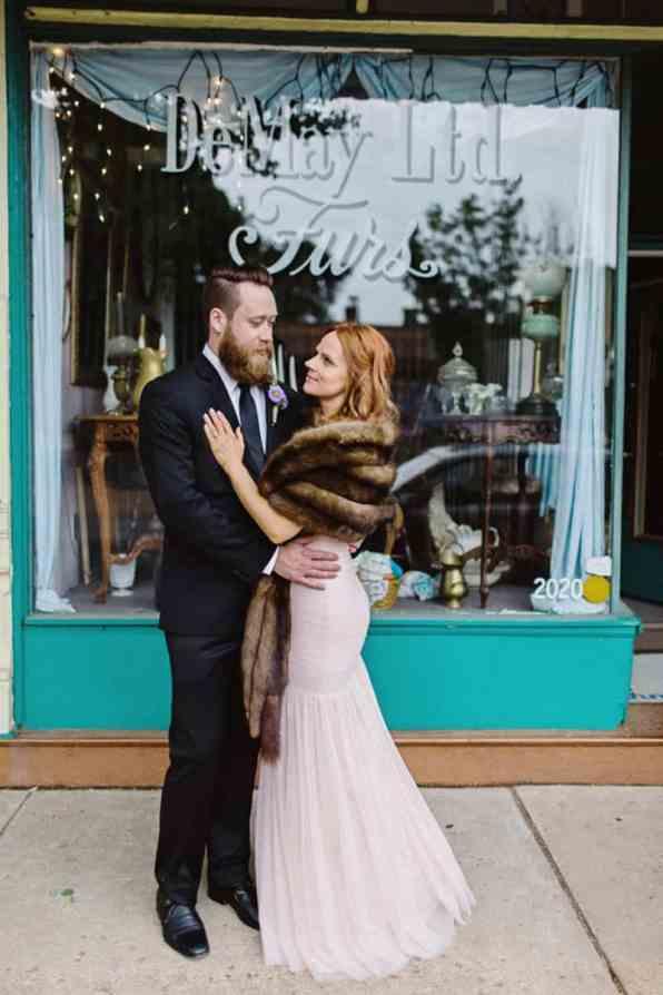 Close Knit Family & Friend DIY Wedding, Bride with Purple Petticoat (33)