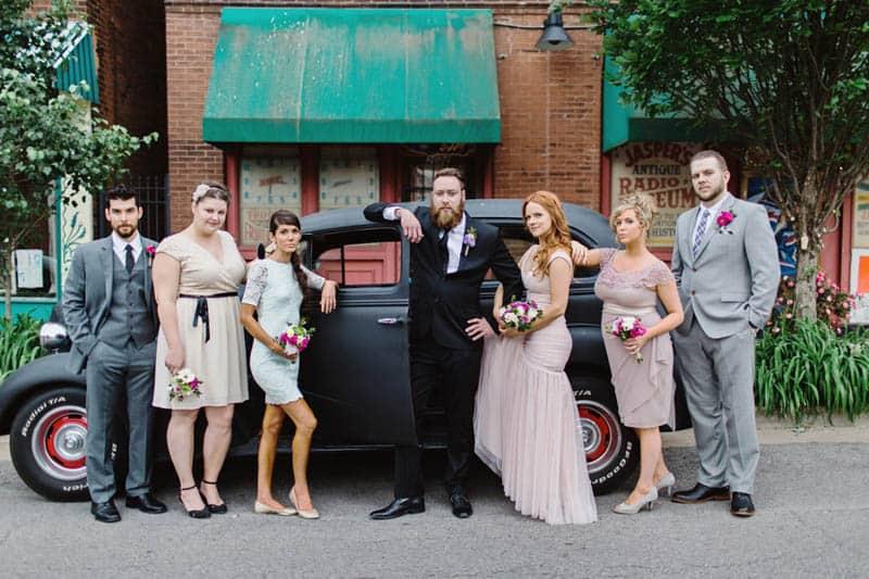 Close Knit Family & Friend DIY Wedding, Bride with Purple Petticoat (35)