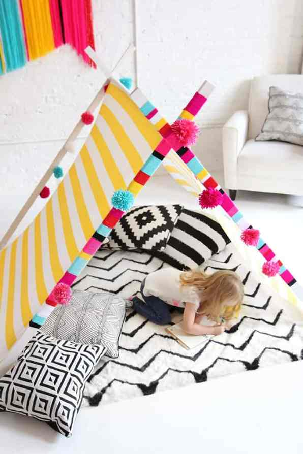 DIY Yarn Teepee Colourful