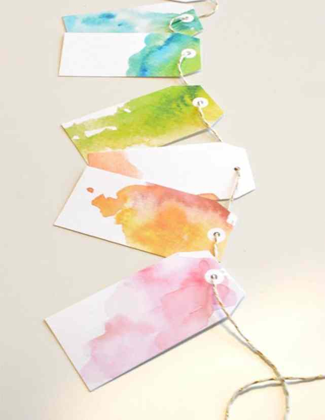Watercolour Tags