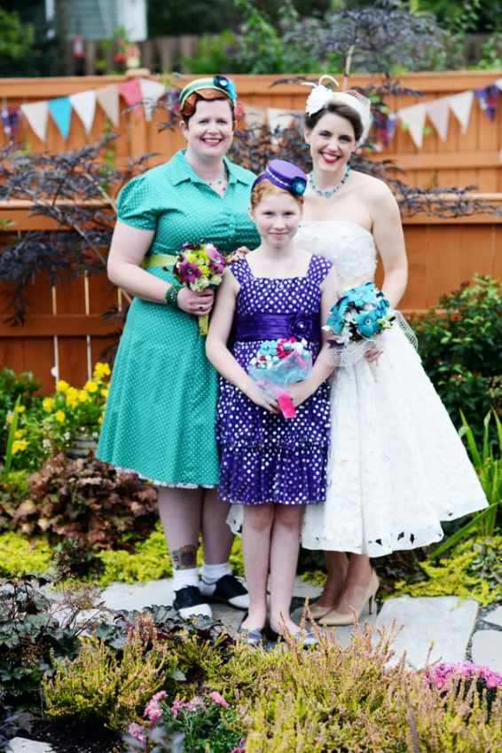A Colourful Fun Vintage Italian Backyard Carnival Wedding (21)