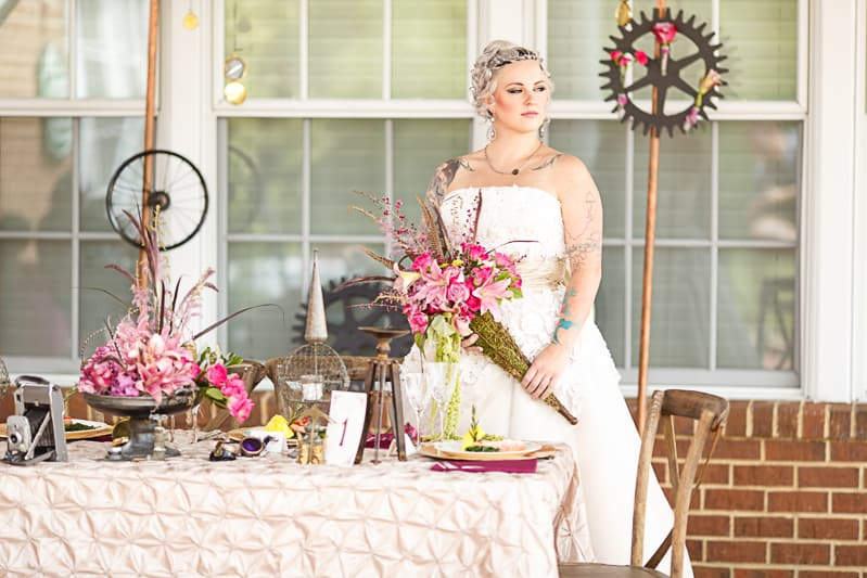 Steampunk Colourful Vibrant Colours Pink Wedding Inspiration-11