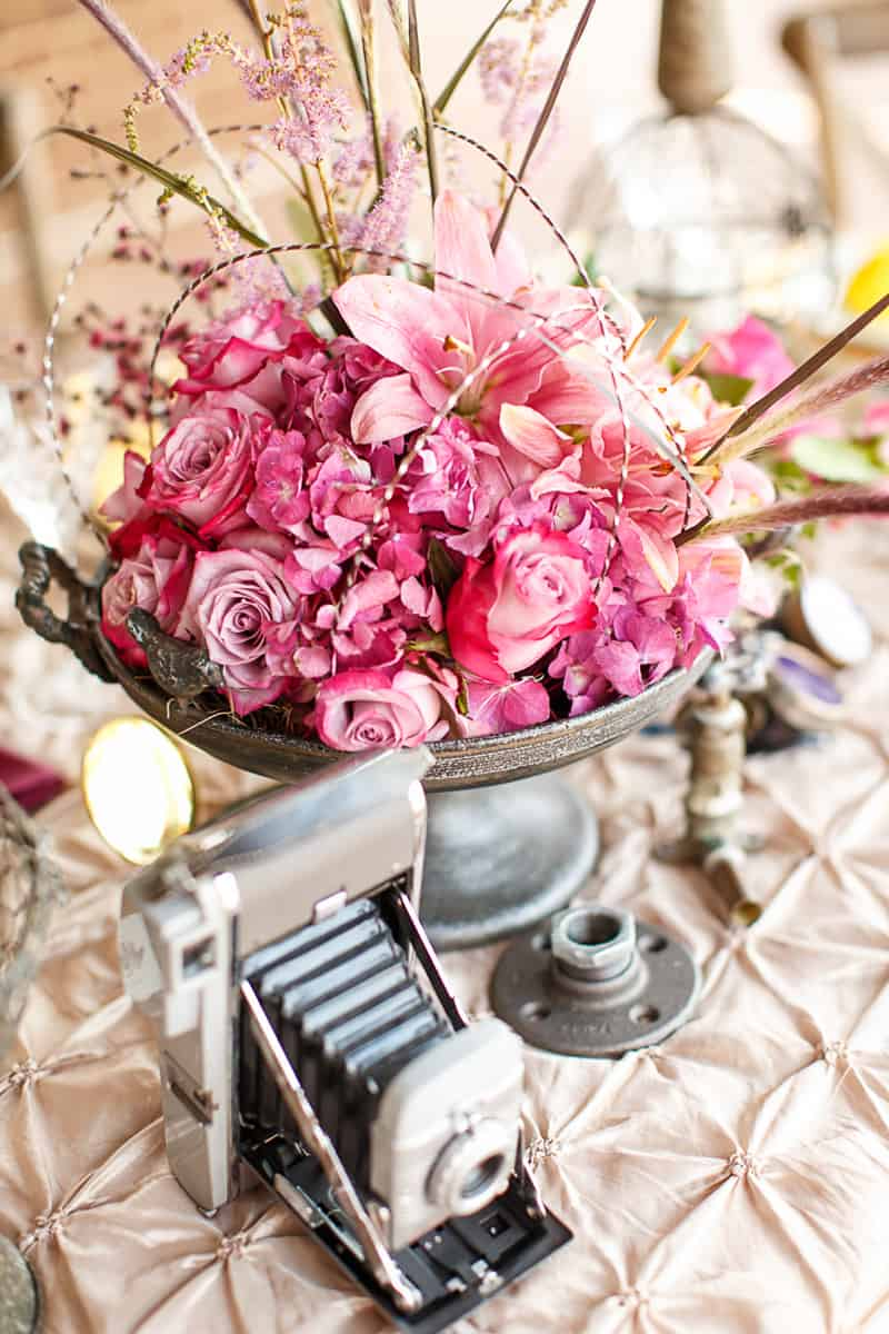 Steampunk Colourful Vibrant Colours Pink Wedding Inspiration-15