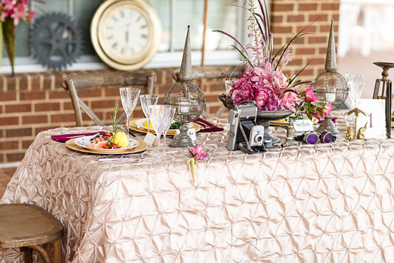 Steampunk Colourful Vibrant Colours Pink Wedding Inspiration-2
