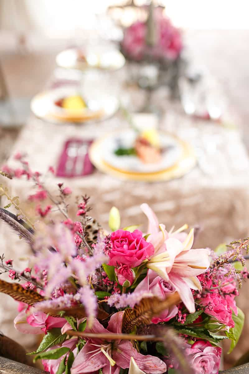 Steampunk Colourful Vibrant Colours Pink Wedding Inspiration-5