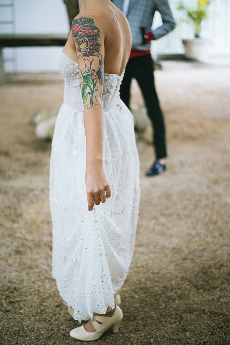 Winter Wedding Inspiration Style with Rockabilly Fashion from Zebra Music and Gold Antler Crowns Shoot-24