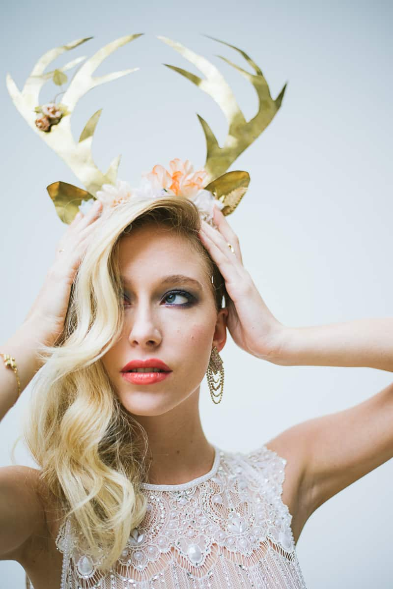 Winter Wedding Inspiration Style with Rockabilly Fashion from Zebra Music and Gold Antler Crowns Shoot-43