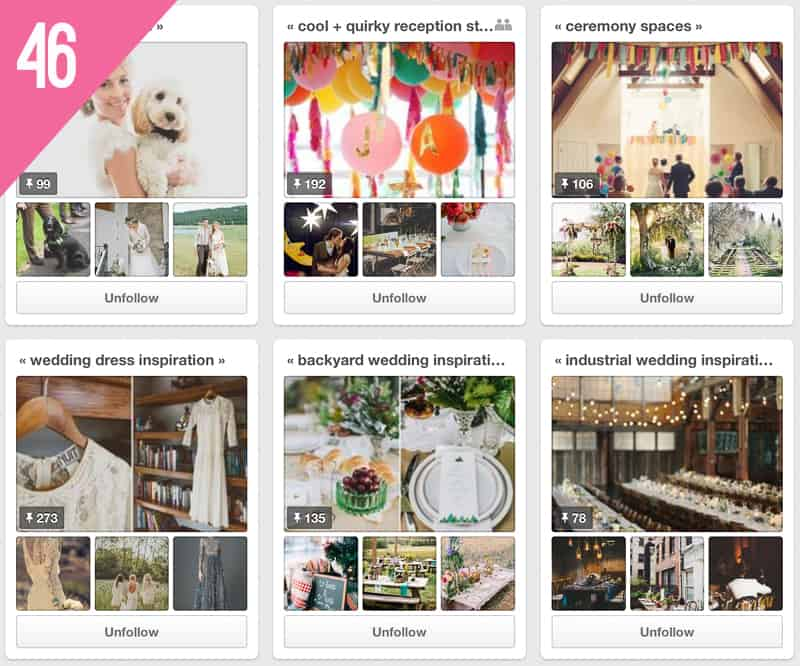 46 Willow & Co Wedding Pinterest Accounts to Follow