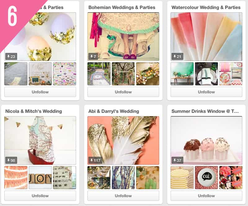 6 Curious Fair Wedding Accounts to Follow on Pinterest