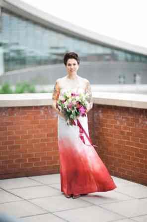 Ombre Wedding Gown for Urban Wedding (10)