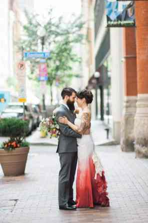 Ombre Wedding Gown for Urban Wedding (23)