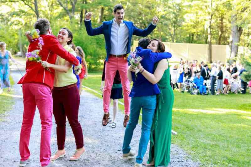 A SAME SEX COLOURFUL HANDMADE WEDDING AT A FOREST RETREAT IN Massachusetts (36)