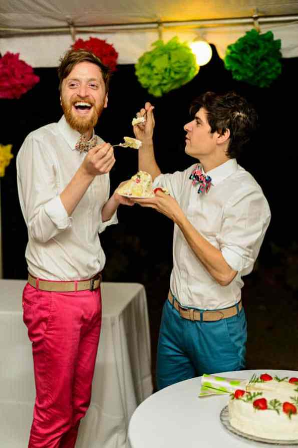 A SAME SEX COLOURFUL HANDMADE WEDDING AT A FOREST RETREAT IN Massachusetts (45)
