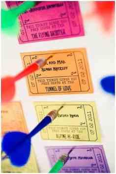 Carnival ticket escort cards