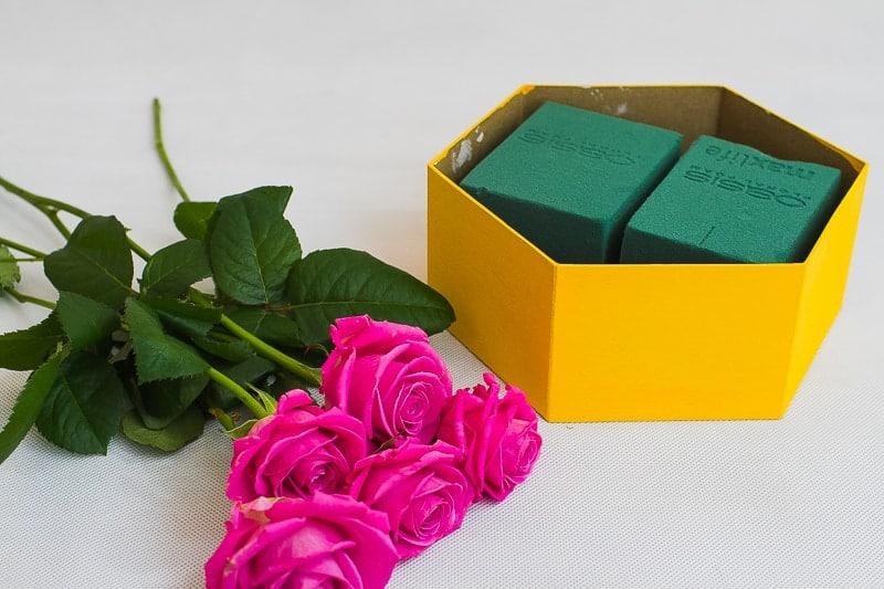 DIY Hexagon Flower Boxes Hanging Wall Decor Wedding Inspiration with Sereneta Flowers-2