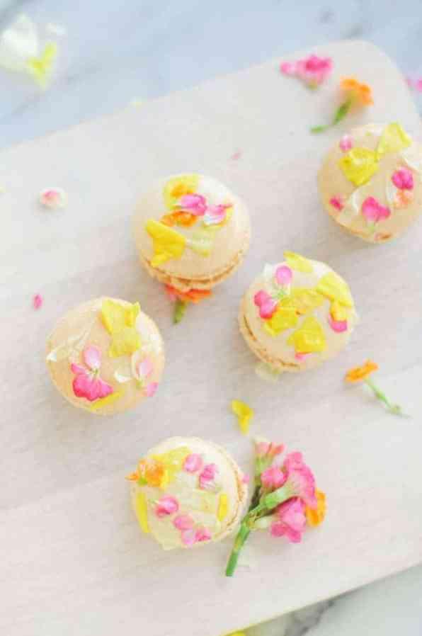 Edible Flower Macarons 2