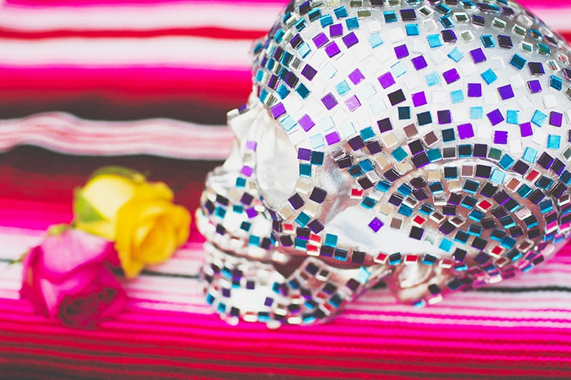 DIY Mosaic Skull Mexican Wedding Inspiration Tutorial Dia de los muertos Step 6