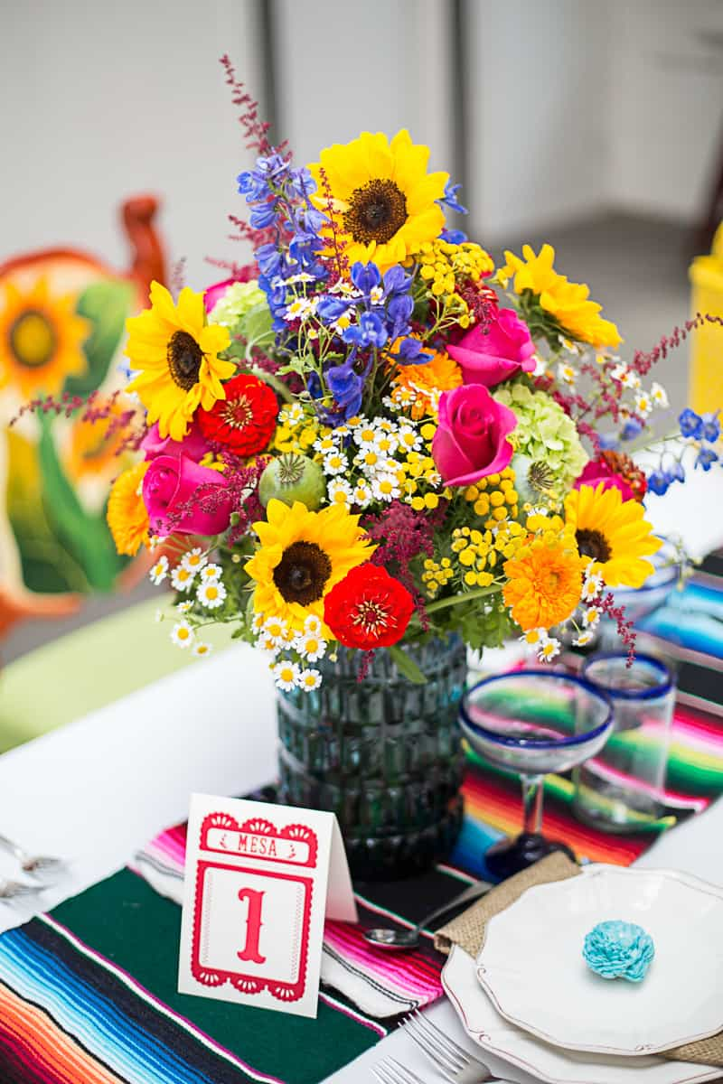 How to style a mexican themed table wedding inspiration 18